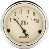"Autometer Antique  Beige Short Sweep Electric Voltmeter Gauges  2 1/16"" (52.4mm)"