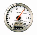 Blitz - Gauge - DC II Series 60mm White EGT Meter