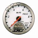 Blitz - Gauge - DC II Series 60mm White Pressure Meter