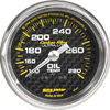 "Autometer Carbon Fiber Mechanical Oil Temperature gauge 2 1/16"" (52.4mm)"
