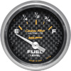 "Autometer Carbon Fiber Short Sweep Electric Fuel Level gauge 2 1/16"" (52.4mm)"