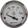"Autometer American Platinum Short Sweep Electric Oil Pressure Gauges  2 1/16"" (52.4mm)"